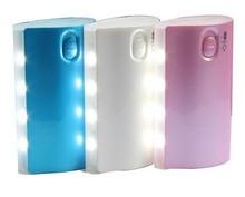 Led power bank 5600mah flashlight power bank 5600 mah for iphone