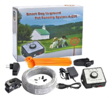 A 200 Outdoor Electric Dog Fence with Rechargeable Collar
