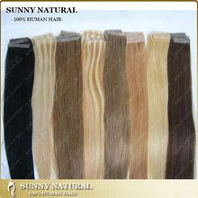 human hair tape hair extension skin weft 100% human hair extension