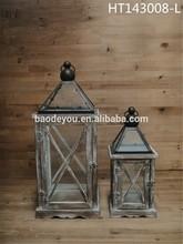 Antique home decoration wooden hurricane lantern