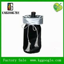 Promotional Drawstring Velvet Wine Bag with Bottle for Gift