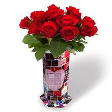EG52 Promotion Gift, Wedding Card Waterproof Flower Holder, Decorative Paper Flower Vase