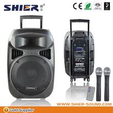 "12"" handheld wirless Microphone loudspeaker for speaker flight case with Class A.B amplifier"
