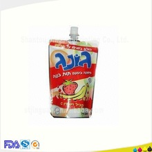 High grade spout juice filling packaging pouch good for America Market