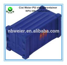 10x5x4.8cm bulk polyurethane PU container shaped stress ball/custom printed PU stress ball container/stress toy PU toy container