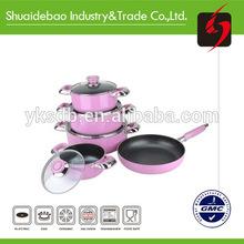 Colorful porcelain enamel cookware sets