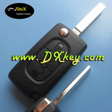 High Quality 3 buttons flip key shell remote key cover for key cover peugeot 307