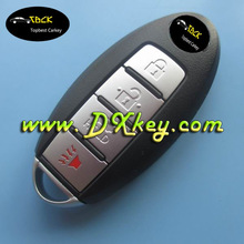 Old type 3+1button remote key for nisan smart key key for nisan teana (Before 2008 year remote with 315Mhz)