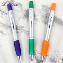 School supply ballpoint pen with highlighter plastic penis