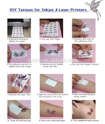 laser & inkjet Temporary Tattoo Transfer Paper