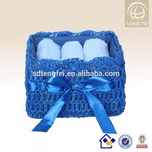 bathroom rattan laundry basket plastic storage basket with lid
