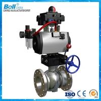 """pneumatic Cast iron ball valve 6"""" dn150"""