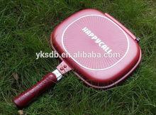 Hot non stick aluminium double grill pan