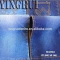 De algodón poliéster spandex mezclilla tela vaquera/tejana para venta al por mayor