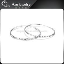 Fashion 925 Sterling Silver Big Hoop Earrings