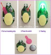 3 LED lights Red flash led light/small battery operated led light/light flasher unit