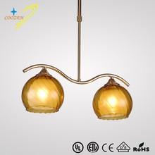GZ20453-2P Glass modern chrome color and glass chandelier luminarias home decoration
