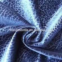 Burnout micro velvet for upholstery