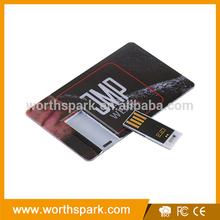 promotional flat flash card usb