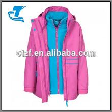 2014 Girl's Waterproof Hooded 3-in-1 Jacket