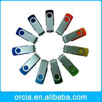 Hot Mini Swivel Metal USB 2.0 8GB flash drive memory stick genuine pendrive