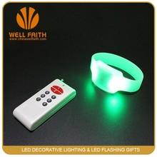 300 m Remote Controlled Led Bracelets Promotion RGB radio control Led wristband LED bracelet