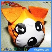 Wholesale Cheap Dog Shape Gift Shopping Bag Polyester Folding Shopping Bag