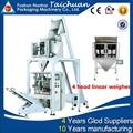 Multi- função 4 cabeças pesador linear de alta precisão automática cheia boa qualidade vertical máquina de embalagem açúcar tclb- 420fz