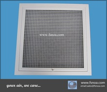 EG made in china whole sale aluminum return air grille egg crate with door hinged and filter special sizes available for HVAC