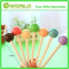 Custom design Colourful lollipop Fine ballpoint pen