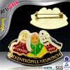 Free samples metal gold engraved letter badge
