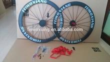 De carbone roues de vélo, roues en carbone vélo, roue de bicyclette pneu 50mm