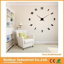 decorative large 3D sticker EVA wall clock