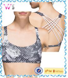 Digital printed girls yoga wear sexy crop tops bra