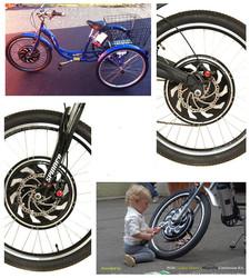2015 Golden Motor 3 wheel motorized bike,electric cargo trike, three electric cargo tricycle with our Smart Pie Hub Motor