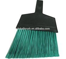 HQ0133D magnolia brush 465 large angle broom flagged plastic bristles green (Case of 12)