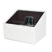 newest OEM promotional leather tv remote control holders, mobile phone holder, desk organizer