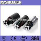 PVC Insulation aerial bundle cable 33kV