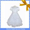 manga corta bordado vestido de bola del niño blanco vestido de ángel 2015 para
