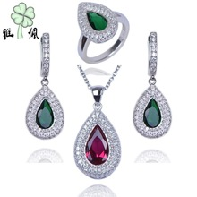 925 Silver Jewelery Set Gemstone Set 18k Gold Plated Jewelry Set