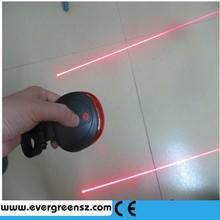 new waterproof design 2led laser + 5led flash 7 modes ,mini laser bike tail lightbike signal light