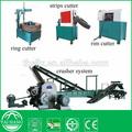 continuamente operacional de ahorro de energía de los residuos de goma físicamente a reciclar de goma en polvo