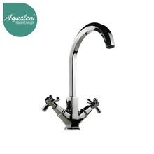 Two Handles Brass sink Faucet Kitchen Water Mixer Tap