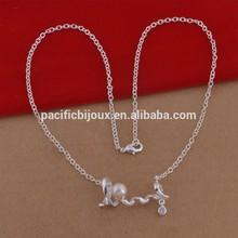 latest design unique korean silver necklace with pearl
