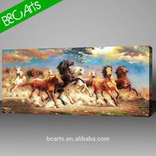 running horses digital image print on canvas