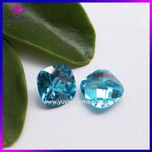 synthetic gems cz lab created aquamarine stones