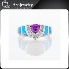 Wholesale Fashion 925 Sterling Silver Tanzanite Blue Fire Opal Rings