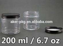 6.7OZ Cosmetic make up cream 200ml PET bottle with Aluminum Top Cap