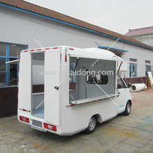the best selling electric mobile food truck/fast food van for sale in China