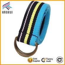 2015 best selling products polyester bullet belt with stripe